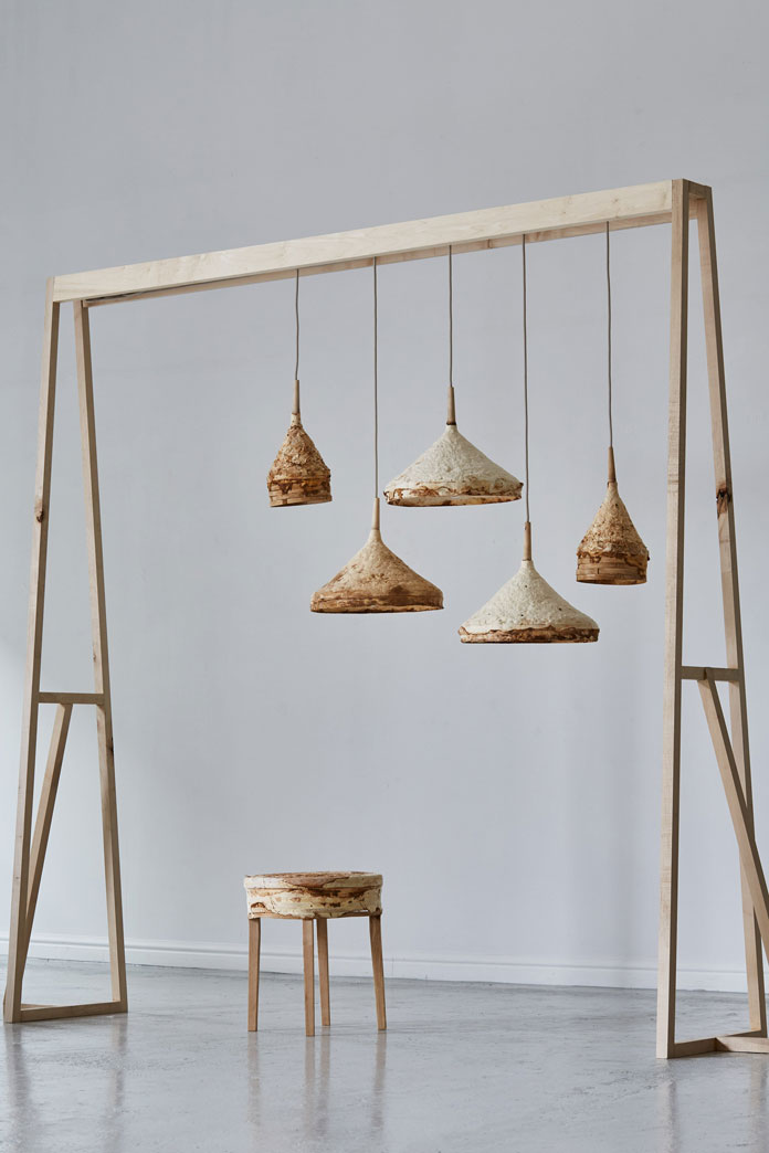 4-A-stool-and-a-series-of-hanging-lamps